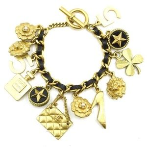 Chanel Rare Vintage 94A Plated  Charm Bracelet